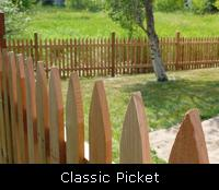 Classic Picket Wood Fence