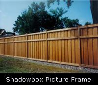 Shadowbox Picture Frame Wood Fence
