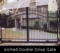 Arched Double Drive Gate