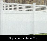 Soilid with Lattice Top PVC Fence