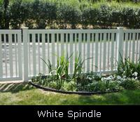 Spindle PVC Fence